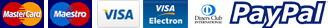 MasterCard | Maestro | VISA | VISA Electron | Diners Club International